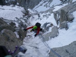 Shit Route, Aiguille du Midi nov 13