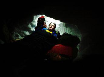 Snow hole