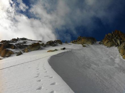 Upper snow arete