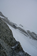Finding the abseils in a blizzard