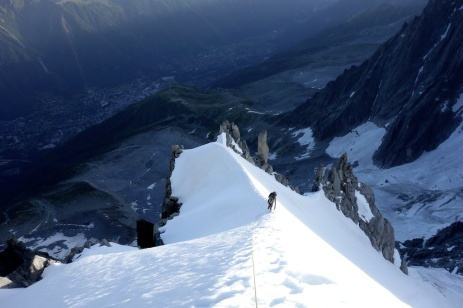 Early morning on the arete