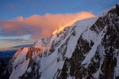 Sunrise on Mont Blanc