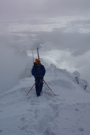 Out of the clouds for the summit