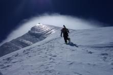 Tim on the summit ridge