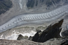 A long way down to the Mer de Glace
