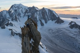 The lower Dent du Geant summit, T.Oliver