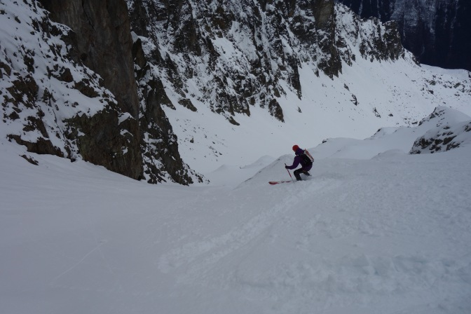 Ally lower down in the Couloir