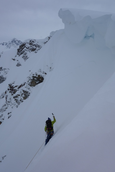 Jesper testing the snow