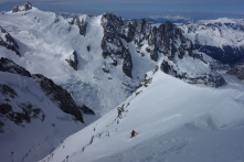 High above the Vallee Blanche